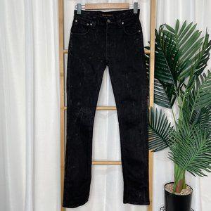 Nudie Jeans Organic Faded Black Thin Finn Jeans